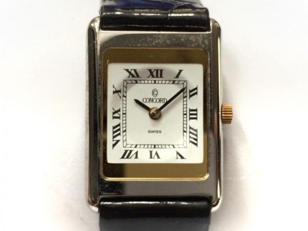 CONCORD(コンコルド) 腕時計 14 01 669.0 Y レディース 型押し革ベルト 白