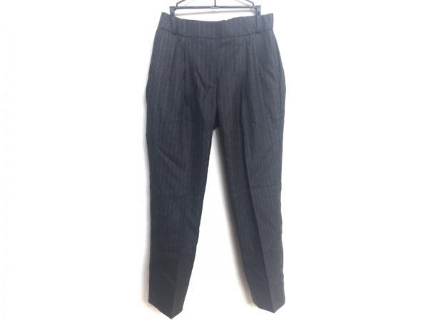 M・Fil(エムフィル) パンツ サイズ36 S レディース美品  グレー×白 ストライプ