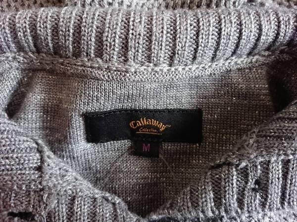 CALLAWAY(キャロウェイ) ノースリーブセーター サイズM レディース美品  グレー ラメ
