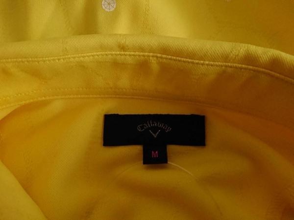 キャロウェイ 長袖ポロシャツ サイズM レディース美品  イエロー×アイボリー×黒