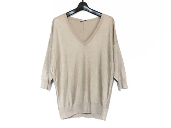 ADORE(アドーア) 長袖セーター サイズ38 M レディース美品  ベージュ Vネック
