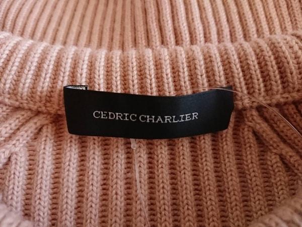 セドリック シャルリエ 長袖セーター サイズ38 M レディース美品  ピンクベージュ