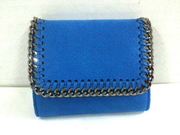stellamccartney(ステラマッカートニー) 3つ折り財布美品  ファラベラ ブルー 合皮