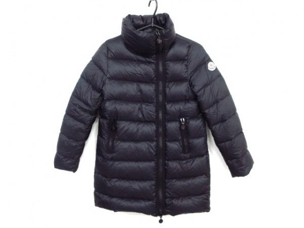 モンクレール ダウンコート サイズ140cm ユニセックス - 黒 キッズサイズ/冬物