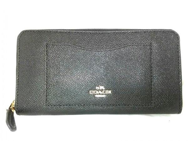 COACH(コーチ) 長財布美品  - F54007 黒 レザー