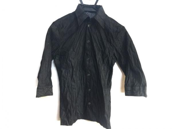 SHELLAC(シェラック) 七分袖シャツ サイズ44 L メンズ美品  黒