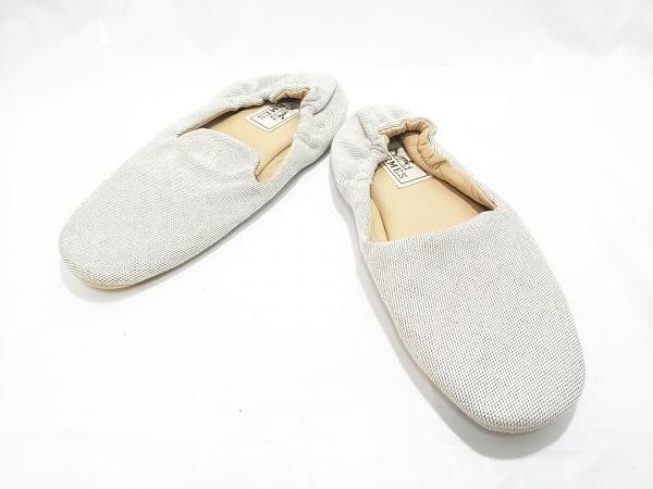 HERMES(エルメス) 靴 36  レディース美品  ベージュ ルームシューズ トワルアッシュ