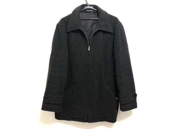 agnes b(アニエスベー) コート サイズ2 M メンズ 黒 ジップアップ/homme/冬物