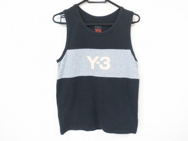 Y-3(ワイスリー) タンクトップ サイズM メンズ美品  黒×グレー×イエロー ×adidas