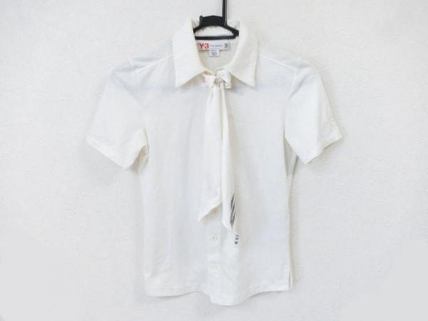 Y-3(ワイスリー) 半袖シャツブラウス サイズXS レディース美品  アイボリー×グレー