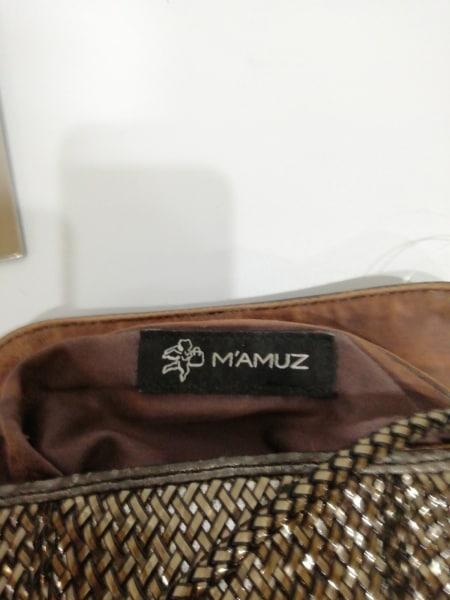 MAMUZ(マミューズ) ショルダーバッグ ブロンズ 編みこみ PVC(塩化ビニール)