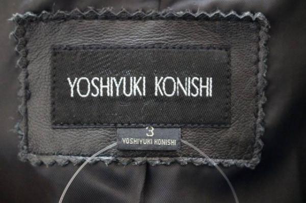 YOSHIYUKI KONISHI(ヨシユキコニシ) ジャケット サイズ3 L メンズ 黒 レザー