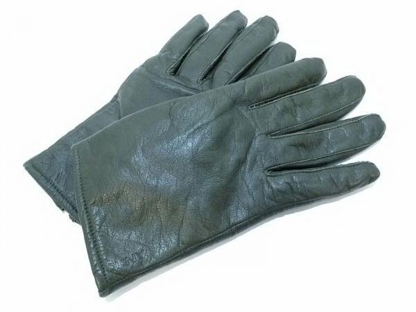 DKNY(ダナキャラン) 手袋 レディース ダークグリーン レザー