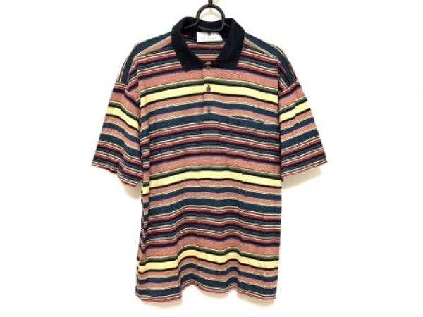 Ballantyne(バランタイン) 半袖ポロシャツ サイズ5 XS レディース ネイビー×マルチ