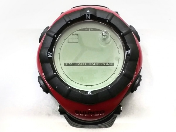 SUUNTO(スント) 腕時計美品  ヴェクター - メンズ ラバーベルト カーキ