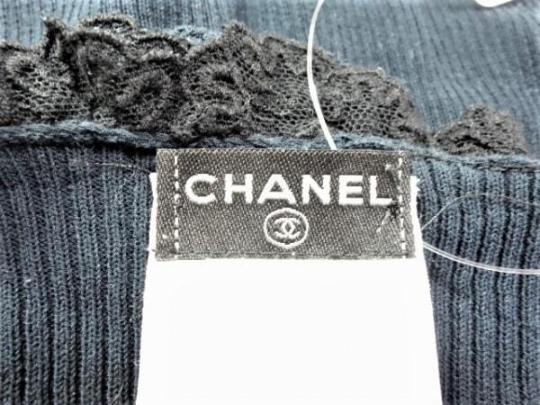 CHANEL(シャネル) 半袖カットソー サイズ38 M レディース美品  ネイビー フリル