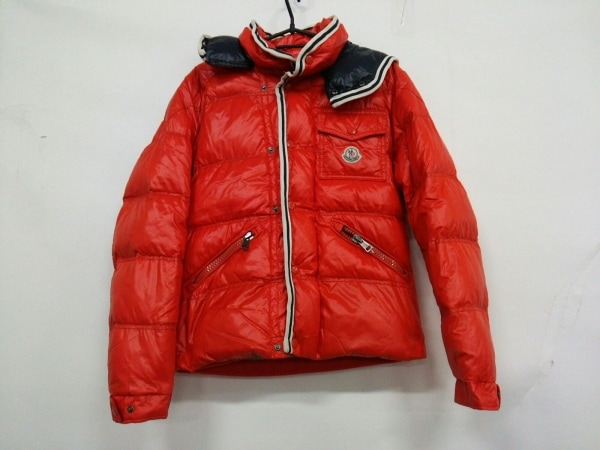 MONCLER(モンクレール) ダウンジャケット サイズ0 XS メンズ - オレンジ 冬物