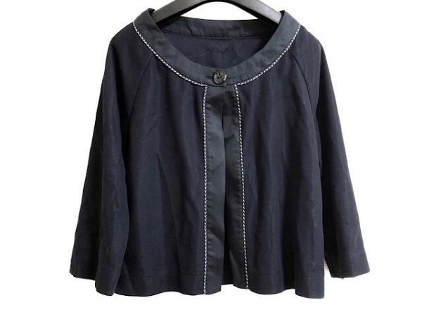 ストロベリーフィールズ ジャケット サイズ2 M レディース 黒×マルチ 薄手/ラメ