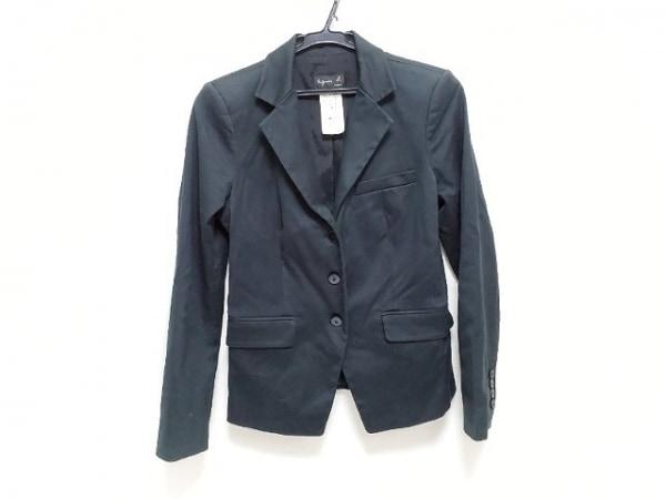 agnes b(アニエスベー) ジャケット サイズ36 S レディース新品同様  ダークネイビー