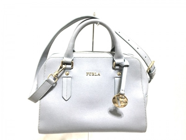 FURLA(フルラ) ハンドバッグ美品  ライトブルー レザー