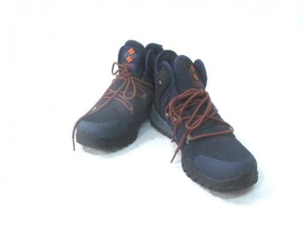 columbia(コロンビア) スニーカー メンズ ネイビー×黒×オレンジ 化学繊維