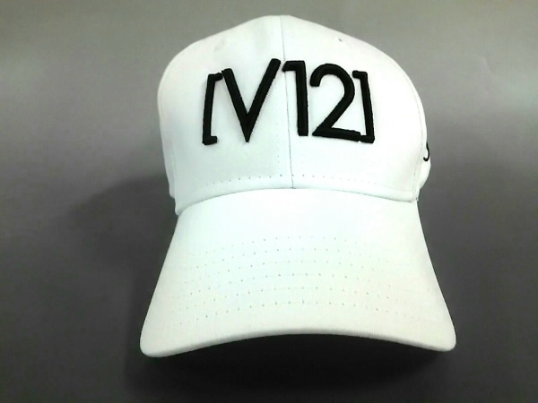 V12(ヴィトゥエルヴ) キャップ 白×黒 コットン
