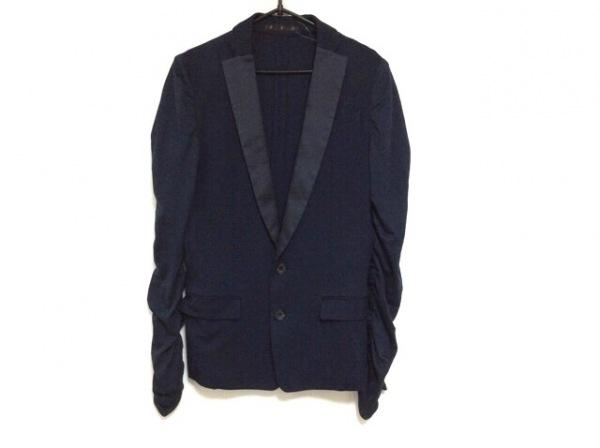 ato(アトウ) ジャケット サイズ44 L メンズ ネイビー 袖ギャザー