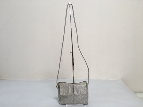 GHERARDINI(ゲラルディーニ) ショルダーバッグ グレー×ライトグレー ミニサイズ