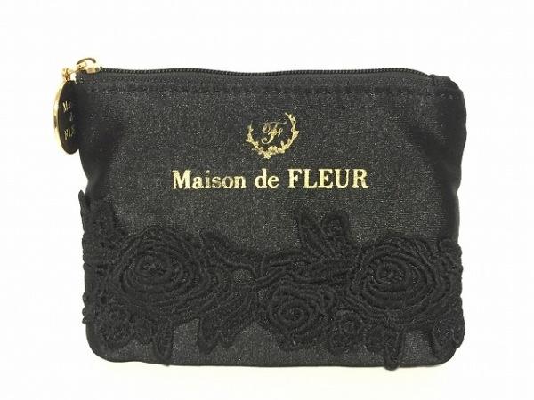 Maison de FLEUR(メゾンドフルール) 小物入れ 黒 ティッシュケース ナイロン