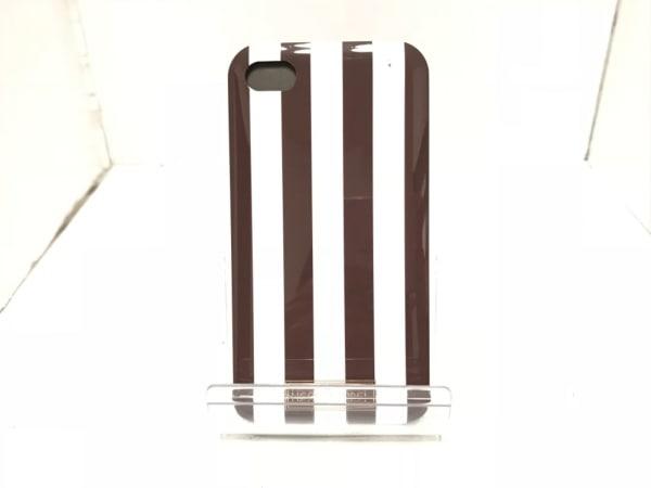 ヘンリベンデル 携帯電話ケース ダークブラウン×白×黒 ストライプ プラスチック