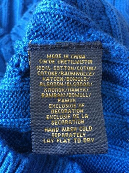 ポロラルフローレン 長袖セーター サイズXS レディース美品  ブルー