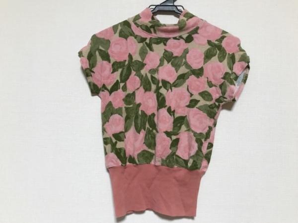 ブルーガール・アンナモリナーリ 半袖セーター レディース美品  花柄/ハイネック