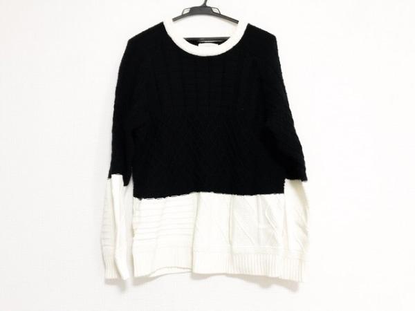 bukht(ブフト) 長袖セーター サイズ0 (S) メンズ美品  ダークネイビー×白