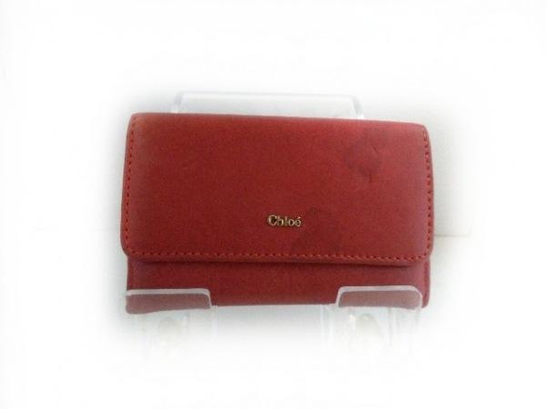 Chloe(クロエ) カードケース - レッド レザー