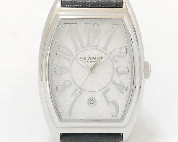 NEWMAN(ニューマン) 腕時計美品  - メンズ 革ベルト 白