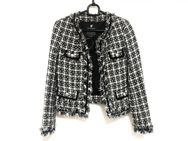 LOVELESS(ラブレス) ジャケット サイズ34 S レディース美品  黒×白