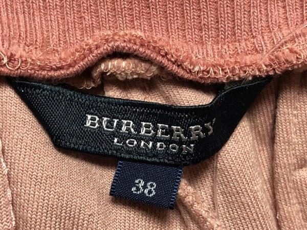 Burberry LONDON(バーバリーロンドン) パンツ サイズ38 L レディース ピンク ベロア