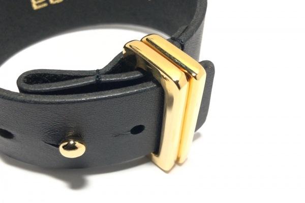 ELFORBR(エルフォーブル) ブレスレット レザー×金属素材 黒×ゴールド