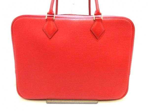 HERMES(エルメス) ハンドバッグ美品  プリュム32 ヴァーミリオン ヴォーガリバー