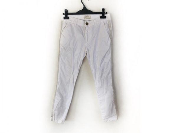 カレントエリオット パンツ サイズ24 レディース アイボリー×シルバー