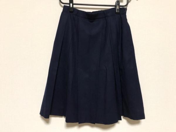 YUKITORII(ユキトリイ) スカート サイズ40 M レディース美品  ダークネイビー