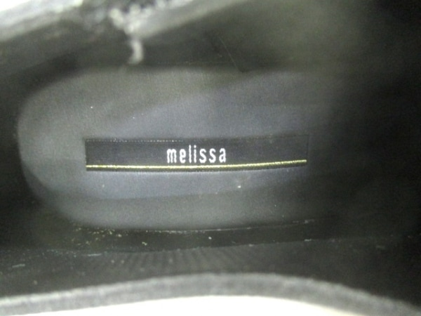 melissa(メリッサ) ブーティ レディース 黒 スエード×ラバー 5