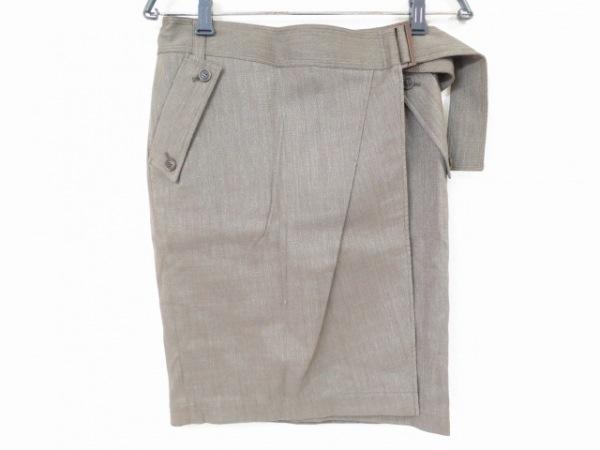 ボディドレッシングデラックス 巻きスカート サイズ36 S レディース美品  カーキ