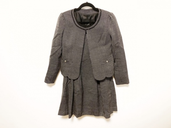RewdeRew(ルゥデルゥ) ワンピーススーツ サイズ40 M レディース美品  黒×白