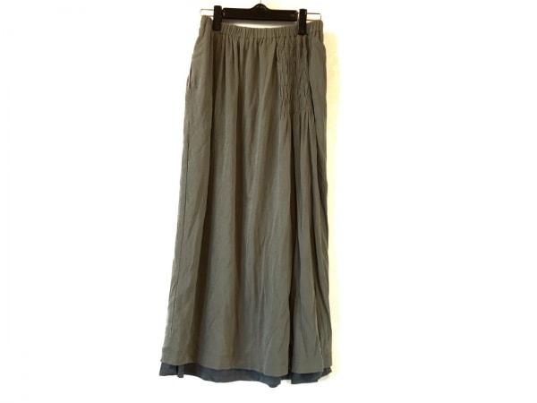 SENSO-UNICO(センソユニコ) ロングスカート サイズ40 M レディース美品  グレー