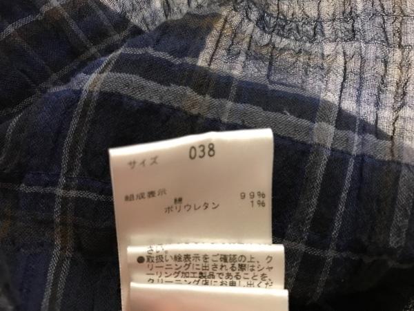 セオリーリュクス チュニック サイズ38 M レディース美品  ダークネイビー×マルチ