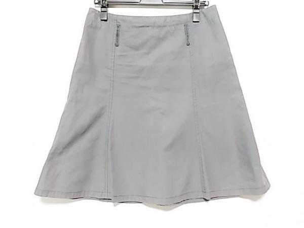 miumiu(ミュウミュウ) ロングスカート サイズ42 M レディース ダークグレー