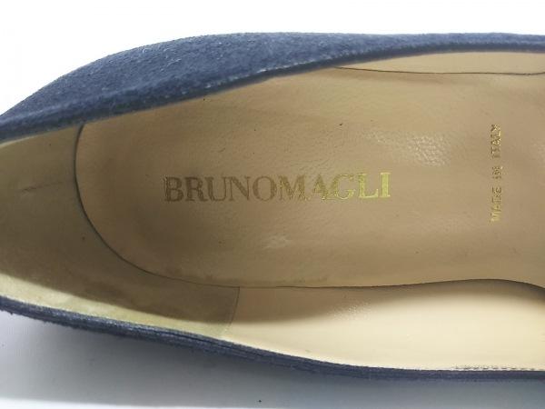 BRUNOMAGLI(ブルーノマリ) パンプス 36  レディース 黒 スエード×エナメル(レザー)