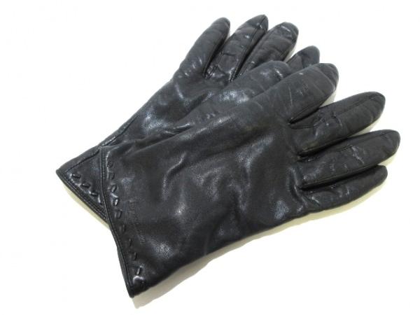 Aquascutum(アクアスキュータム) 手袋 レディース 黒 レザー