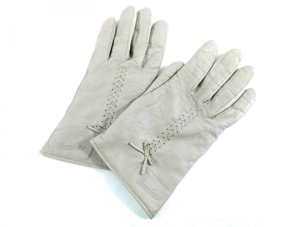 Borsalino(ボルサリーノ) 手袋 レディース グレー レザー